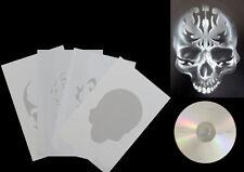 Airbrush Schablonen / Stencil / Step By Step 0654 Tattoo Skull 2 mit  Anleitung