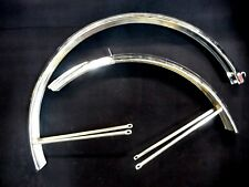 """Vintage PHILLIPS 26"""" mudguards Bicycle fenders Chromium pair NOS Made in England"""