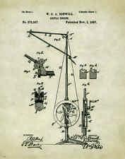 Dentist Patent Poster Art Print Vintage Dental Instruments Tools Chairs PAT181