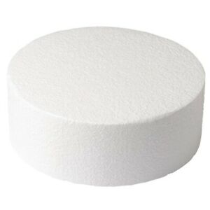 "5 of Round Straight Edged Cake Dummies - 3"" to 16"" diameter x 2"" to 5"" deep"