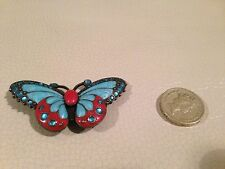 Colourful butterfly belt catcher Turquoise/red/copper