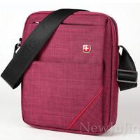 SWISS Gear Travel Men Shoulder Bag Messenger Black School Ourdoor Nylon Red Blue