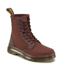 Doc Dr. Martens Mens Combs Old Oxblood Red Canvas 8 Eyelet Combat Boot US 14