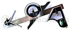 "12"" COMBINATION SQUARE ENGINEER MULTI ANGLE FINDER PROTRACTOR MEASURING RULER 17"