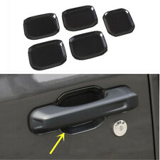 Black Door Handle Bowl Cover Trim 5pcs For Jeep Wrangler JL 2018 2019 4-Door