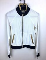 Lululemon sz 2/AU6 white black gold  see through women active jacket run sport