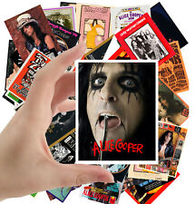 """Stickers pack [24 stkrs 2.5""""x3.5""""] Alice Cooper Rock Music Poster Advers 5027"""
