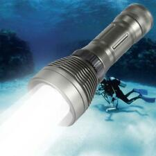 Waterproof 80M 8000LM X-XM-L T6 LED Scuba Diving 26650 Flashlight Torch  Z#