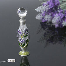 Antique Empty Flower Art Deco Crystal Metal Perfume Bottle Lady Wedding Gift 5ml
