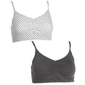 Fruit of the Loom® Signature Ladies Ultra Soft Cotton Blend Crop Top Bras 2-Pack