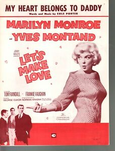 My Heart Belongs To Daddy Marilyn Monroe Yves Montand Let's Make Love Sheet Musi