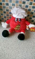 Mr Jelly Belly Beans Toy Soft Teddy RED WITH HAT Collectable NEW WITH TAGS 2014