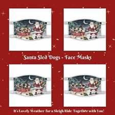 Christmas Santa Sled Dog Cat Pet Photo Face Masks, Personalized Custom Face Mask