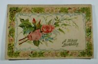 Vintage Birthday Greetings Card 1908 Rare Posted Antique Postcard Collectible
