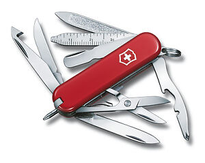 VICTORINOX MINI CHAMP RED - SWISS ARMY POCKET KNIFE - LENGTH 58 MM - 16 TOOLS