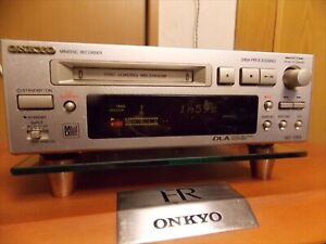 ONKYO Mini Disc Recorder MD105X Silver High Speed Audio MD INTEC205 Used