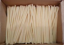 50 white wax candles holiday decor magic retuals 21 cm Church candles