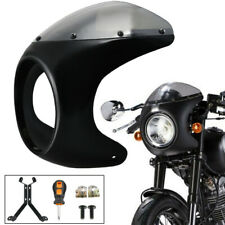 "7"" Round Pre-Drilled Motor Headlight Fairing Windshield for Cafe Racer CAO"