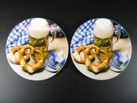 Untersetzer Bier Brezel Bayern Coaster 2 Stück Souvenir Germany,NEU