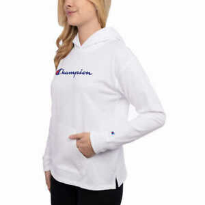 Champion Ladies' Jersey Hoodie White Size Small NEW