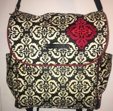 Petunia Pickle Bottom Boxy Backpack Convertible Diaper Bag Black White Red