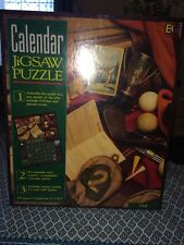 Calendar Jigsaw Puzzle, Golf, hanging puzzle, ball, club, tee, bag NEW SEALED
