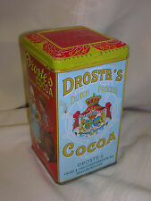 "Droste's Cocoa Tin ONLY Haarlem Holland 6 3/8"" Dutch Girl & Boy"