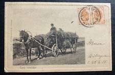 1905 Poland Russia Empire RPPC Postcard Cover To Hungary St. Graeve bishop