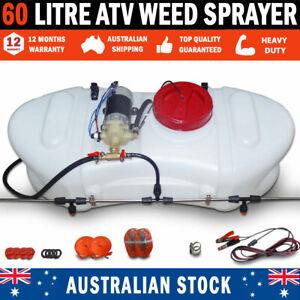 NEW 60 Litre ATV Weed Sprayer Spray Tank & Pump With Boom & Large 6.1 L/Min Pump