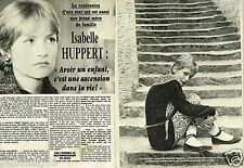 Coupure de Presse Clipping 1984 (4 pages) Isabelle Huppert