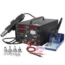 853D 3in1 SMD Soldering Iron Hot Air Gun Rework Station DC Power Supply Digital*