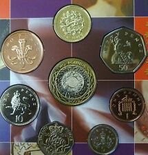2002 Uncirculated UK Royal Mint coin set BU 8-coin Year Pack Jubilee Year