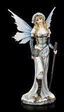 Elfen Figur - Nivalis mit Stab - Fantasy Fee Elfenprinzessin Dekostatue