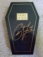 Cradle of Filth Dani Filth SIGNED AUTOGRAPH coffin box RARE!