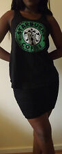 STARBUCKS COFFEE BLACK T-Shirt Vest Tank Top TOP Ladies Women Girls New T SHIRT