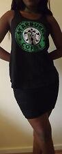 Starbucks Coffee Negro Camiseta Chaleco Tank Top Top Damas Mujeres Niñas Nuevo T Shirt