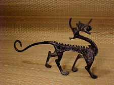 Bronze Dragon Standing Figure Artist Calligraphy Paint Brush Rest Sculpture #A
