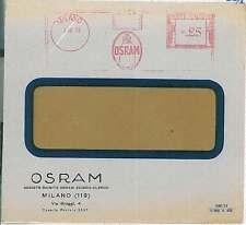 ITALIA REGNO: BUSTA con annullo PNEUMATICO ROSSO: OSRAM, Milano - LIGHTBULB 1933