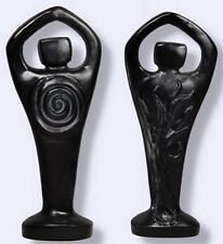 Black Spiral Lord Statue 2 Sided Wiccan Pagan Antiqued Resin Figurine #BSL