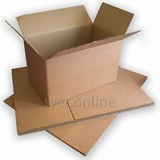 """10 x Sturdy Thick X-Large Strong Packing Strong Cardboard Boxes 31 x 23 x 26"""" DW"""