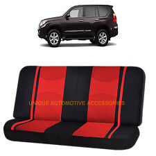 RED & BLACK POLY MESH NET 2PC SPLIT BENCH SEAT COVER for LEXUS RX300 LX470