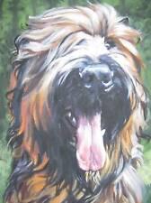 BRIARD painting LSHEP dog 12x16 CANVAS art PRINT
