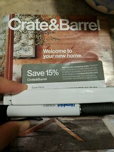 Crate and barrel 15% off Save Now And Save Later EXP 12/31/20