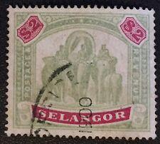 MALAYA 1897 SELANGOR Elephant $2 USED SG#62 M2815