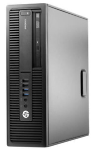 HP EliteDesk 705 G2 SFF 3.5 GHz RAM 8 Go HDD 500 Go Win 10 Pro + Carte Wifi