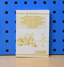 Original Suzuki Fahrerhandbuch Bedienungsanleitung Handbuch LS 650 Savage