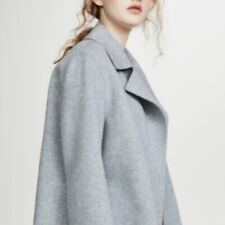 NWT $795 Theory Wool Cashmere One Button Coat Size S