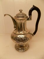 ANTIQUE SOLID SILVER COFFEE POT. 286 GRAMS. UNKNOWN ORIGIN. UNUSUAL MARKS. (NCB)