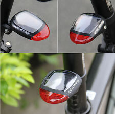 Vogue Hot Rear Tail Bicycle Solar Energy 3 Modes 2 LED Power Red