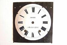 Cadran émaillé d'horloge comtoise fin XIXème.